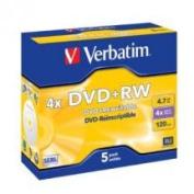 DVD+RW 5pk Jewel Case