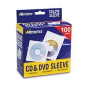 CD/DVD Sleeves, 100/Pack