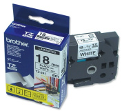 for Brother P touch TZE Label Tape 18mmx8m Black on White Ref TZE241
