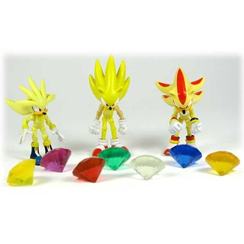 sonic the hedgehog action figure 3pack super silver super sonic
