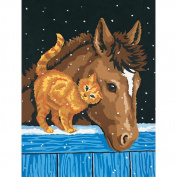 Paint by Number Kit - Pony and Kitten