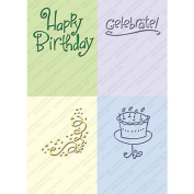 CuttleBug Embossing Folders - Birthday