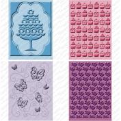 Cuttlebug Cricut Companion Embossing Folders 4/Pkg-Once Upon A Princess (2) 13cm x 18cm & (2) A2