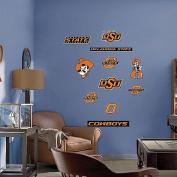 100cm . x 70cm . Oklahoma State Cowboys Team Logo Assortment Wall Decal