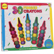 Easy-Grip Round Finger Crayons - Set of 30