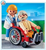 Playmobil Hospital Playset - Wheelchair with Patient