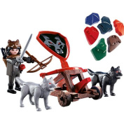Playmobil Knights Playset - Wolf Knight and Fire Catapult