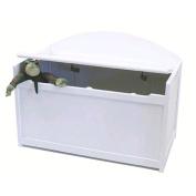 Lipper 598W White Toy Chest Bench