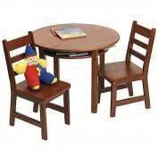 Lipper 524C Childs Round Table and 2 Chairs-Cherry