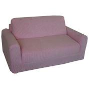 Fun Furnishings Chenille Sleeper Sofa - Pink
