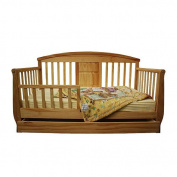 Dream On Me Deluxe Toddler Day Bed with Storage Drawer - Natural