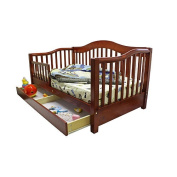 Dream On Me Toddler Day Bed with Storage Drawer - Cherry
