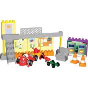 K'NEX Tomy Roary the Racing Car Silver Hatch Garage Building Set-82017