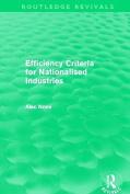 Efficiency Criteria for Nationalised Industries