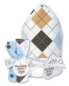 Trend-Lab 21029 Prep School Blue Hooded Towel & Wash Cloth Bouquet Set