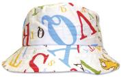 Trend Lab 30077-6M Bucket Hat- Dr Seuss Abc Scatter Print Percale- Size 6 Months- 2.5 X 5.5- 2 Brim