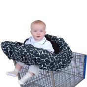 Floppy Seat Shopping Cart Cover - Black Giraffe