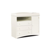 South Shore Changing Table in Pure White Finish