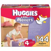 Huggies Little Movers Nappies - Size 4 - 140 Ct