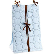 Bacati Quilted Circles Blue & Chocolate Nappy Stacker