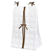 Bacati Quilted Circles White & Chocolate Nappy Stacker