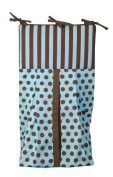 Tadpoles Damask Nappy Stacker - Blue/Brown