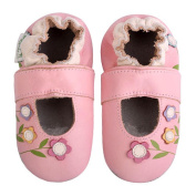 Momo Baby Infant/Toddler Soft Sole Leather Shoes - Lilies Mary Jane Pink