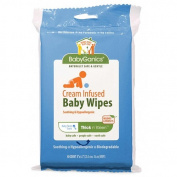 Babyganics Cream Infused Baby Wipes, Lidded Soft Pack