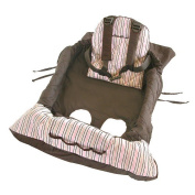 Eddie Bauer Shopping Cart Cover - Brown and Pink