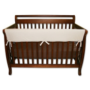 Trend Lab CribWrap Convertible Front Crib Rail Guard - Natural Fleece