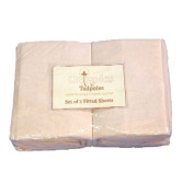 Tadpoles Set of 2 Organic Cotton Fitted Crib Sheets - Natural