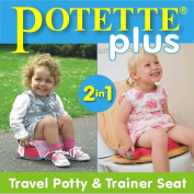 Potette Plus - 2-in-1 Portable Potty & Trainer - Pink