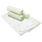 Gerber 5-Pack Flannel Receiving Blankets - Neutral