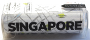Singapore Crumpled City Map