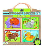 Green Start Playful Pals Wood Puzzle