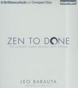 Zen to Done [Audio]