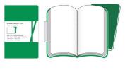 Moleskine Volant Notebook (Set of 2 ), Large, Plain, Emerald Green, Oxide Green, Soft Cover