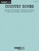 Country Songs: Budget Books