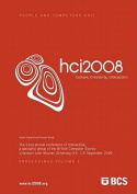 Proceedings of HCI 2008 (Vol. 1)