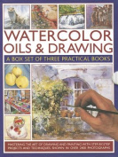 Watercolor Oils & Drawing Box Set