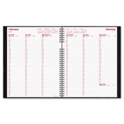 CoilPRO Weekly Planner, Ruled, 8-1/2 x 11, Black, 2012
