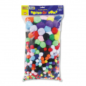 Creativity Street Pound of Poms Giant Bonus Pack, Assorted Colours, 0.5kg/Pack