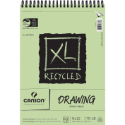 Pro-Art 457485 Canson XL Recycled Drawing Paper Pad 9 in. x 12 in. -60 Sheets