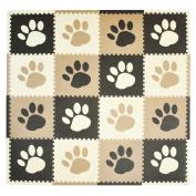 Tadpoles Pawprint Playmat Set - Brown
