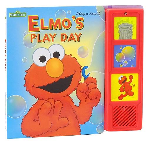 A Street Sesame Sound By With Book Elmo's Day Plush Play O0XwZnPN8k