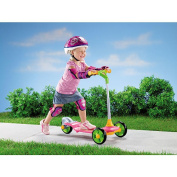 Fisher-Price Grow to Pro Girls' Sit to Stand Scooter, Pink