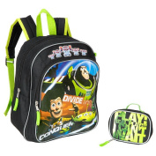 Toy Story 3 Divide and Conquer 12 inch Backpack - Black