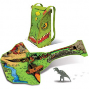 Neat-Oh! ZipBin 45 Dinosaur Bring Along Backpack w/ 1 Dinosaur