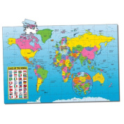 Puzzle Doubles Puzzle & Poster Series-Map of the World