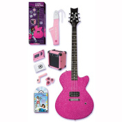 Daisy Rock Debutante Rock Candy Electric Guitar Pack - Atomic Pink